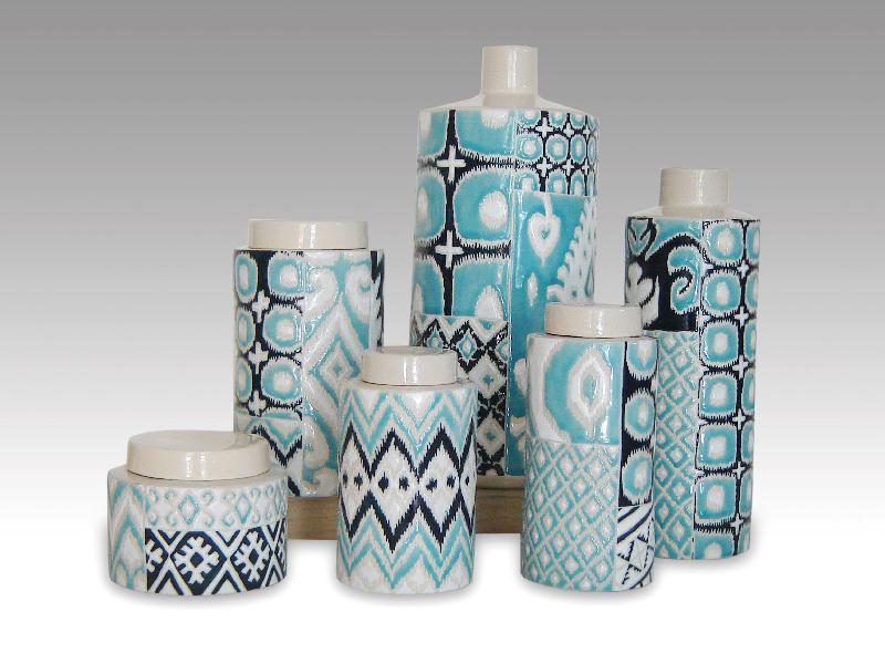 IKAT Blue Mix Ceramics by Craig Anczelowitz